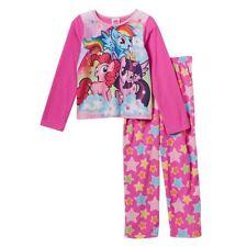 NUEVO 2 piezas MY LITTLE PONY ARCO IRIS redonda Pijama Conjunto Talla 8 Year