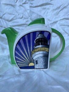 "Clarice Cliff Gotham Deco/Retro style ""Lighthouse"" Tea Pot or Coffee Pot - NR!"