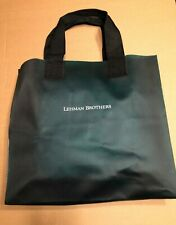 Lehman Brothers | Vinyl Tote Bag | Corporate | Business | Dark Green