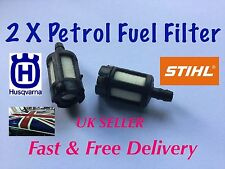 2 X PETROL Fuel Filter For Chainsaw, Leaf Blower, Strimmer etc.  GOOD QUALITY.