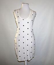 Victoria's Secret White Dot Print Racer-Back Jersey Tank Dress  Medium M