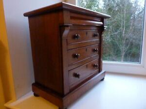 Antique Mahogany Miniature Scottish Chest Excellent condition