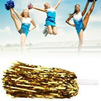 6 Pcs/Set Cheerleader Cheerleading Pom Poms Flower for Cheering Dance Party Tool