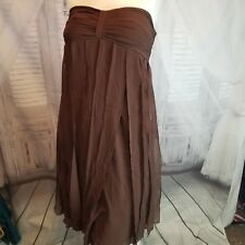 dress party cocktail small S sangria evening wedding women flapper strap 4 brown