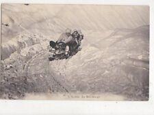 En Bob Sleigh Switzerland 1909 Sledging Postcard 701a