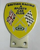 BRITISH RACING & SPORTS CAR CLUB GRILL BADGE EMBLEM MG JAGUR TRIUMPH PORSCHE FER