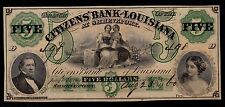 UNITED STATES  5  DOLLARS 1860 CITIZENS  BANK  OF LOUISIANA UNC