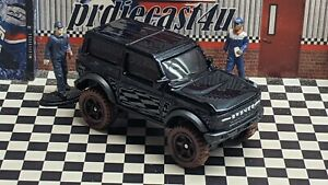 """HOT WHEELS 2021 FORD BRONCO B LOOSE 1:64 SCALE CUSTOM """"BLACK"""" COLLECTION SERIES"""