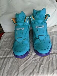 Converse Cons Aero Jam Invader Larry Johnson Teal Blue Basketball Shoes Size 12