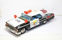ASC Toys Japan Ford Galaxie Police Car With Working Siren - Excellent Tinplate
