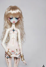 1/6 bjd doll ball jointed dolls zora thin Tattoo girl with face make up