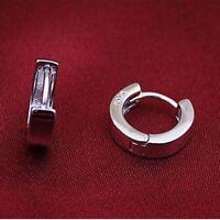 925 Silber Ohrringe Glatte Oberfläche Ohrstecker für Frauen Männer Schmuck.