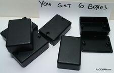 Usa Small Black Plastic Electronic X6 Pcs Box Enclosure Case 225 X 15 X 785