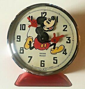 "1960's Walt Disney Productions ""Mickey Mouse""  Alarm Clock Bayard of France"