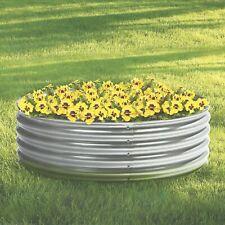 Galvanized Steel Round Raised Garden Planter Bed — 4ft. x 12in.