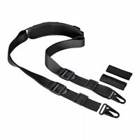 2 Point Traditional Rifle Sling Gun Strap Length Adjustable Shoulder Pad 1.25IN""