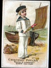 IMAGE CHROMO CHOCOLAT POULAIN / MARIN & BARQUE à voile