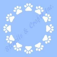 PAW PRINTS STENCIL CIRCLE STENCILS TEMPLATES CRAFT SCRAPBOOK TEMPLATE NEW