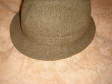 mens  genuine vintage wool mix hat derby two never worn brownish colour medium