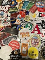 Assorted Brewery Beer Stickers, No Duplicates LOT of 10 Read Description Please!