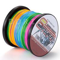 Spider 100M-2000M Multi-Color Super Strong PE Dyneema Braid Fishing Line 6-300lb