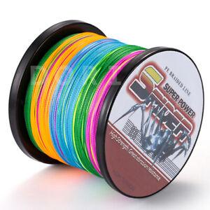Top 100M-1000M Multi-Color 6LB-300LB Super Strong Dyneema Braid Pro Fishing Line