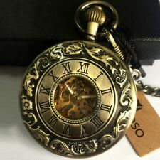 Vintage Automatic Mechanical Fob Pocket Watch Self-winding Movement Boxed Gifts