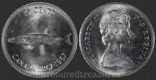 1967 Canada Centennial 10 Cent Silver Coin UNC Alex Colville Mackerel