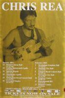 CHRIS REA - UK Tour 2003 original UK promo POSTER singer/songwriter - rare new !