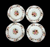 Lot of 4 Woods Ware England FLORA Pattern Small Plates Floral Wood & Son