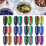 Chameleon Nail Sequins Glitter Paillette Transparent Nail Art Flakes Tips DIY