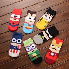 Big Sale! 7 Pairs Men Cartoon Cotton Sock Marvel Comics Super Hero Casual Socks