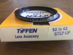 Tiffen Step Up Ring - 52mm to 62mm Adapter NEW IN BOX WITH INSTRUCTIONS