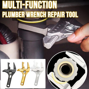 Multi-Function Plumber Wrench Repair Tool Adjustable Spanner Large Opening NEW