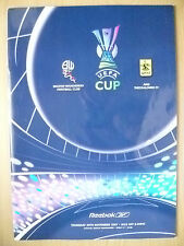UEFA CUP PROGRAMME 2007- BOLTON WANDERERS v ARIS THESSALONIKI (ORG*,EXC)
