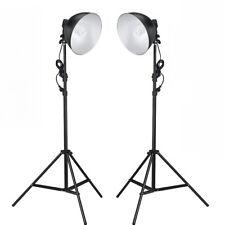 2x Fotolampen Fotostudio Studioleuchte Leuchtmittel Studioset Studiolampe Stativ