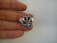 20 butterfly pendant charm tibetan silver antique style jewellery wholesale
