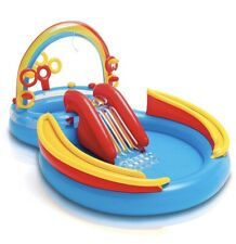 """New Intex Rainbow Ring Inflatable Play Center, 117"""" X 76"""" X 53"""", for Ages 2+"""