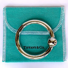 Tiffany & Co. Sterling Silver Rattle Teething Ring with Tiffany Pouch
