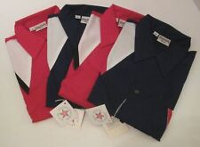 4 New King Louie Vintage Bowling Shirts Size M Red Blue Made in USA Button Down