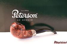 PIPA PIPE PETERSON OF DUBLIN ARMY BROWN 80S SEMICURVA RADICA ORIGINALE