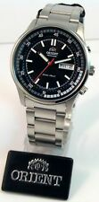 ORIENT  AUTOMATIC JUMBO SILVER MEN  WATCH FEM7E001B BOX ORIENT DIAL BLACK