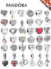 New Pandora Authentic Heart Charm Sterling Silver ALE S925 Genuine + Gift Pouch