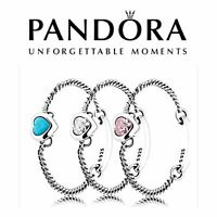 Genuine Pandora Spirited Heart Ring Pink Blue Sterling Silver S925 ALE Brand New