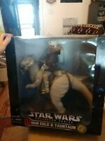 "1997 Kenner Star Wars Collector Series Han Solo & Tauntaun Action Figure 12"" NEW"