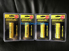 4 PACK NEW NITECORE 18650 NL1835 3500 mah Rechargeable Battery Li-ion Protected