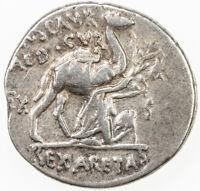 Roman Republic Marcus Aemilius Scaurus Princeps Senatus, AR denarius XF