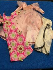 """(P/O) 3 GOWNS DOLL CLOTHES THAT FIT A BARBIE DOLL 11 1/2""""    SET 1F"""