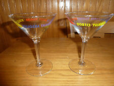 Colorful Absolut Vodka Martini Glasses Peppar Kurant Citron Advertising Souvenir