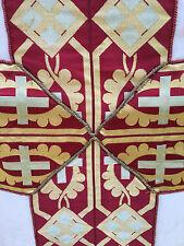 Chape Chasuble Liturgique Broderie Prêtre Aube Ancien 6